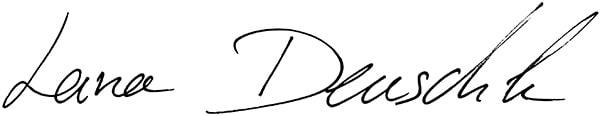 Lana Deuschle Unterschrift